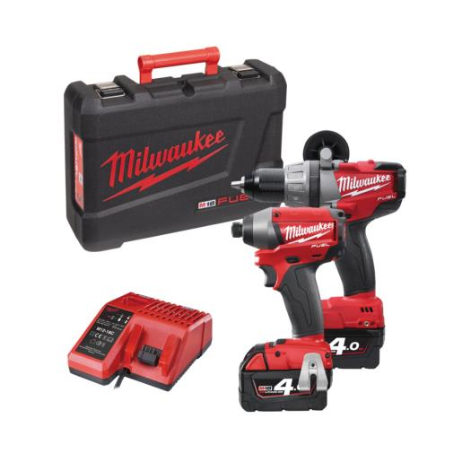 סט מברגות 18V אימפקט + מברגה רוטטת מילווקי Milwaukee FUEL
