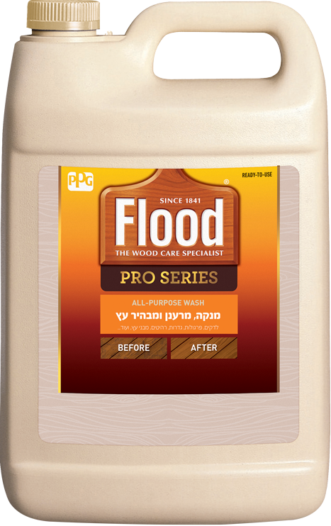 מרענן ומבהיר עץ - Flood Pro All Purpose Deck Wash